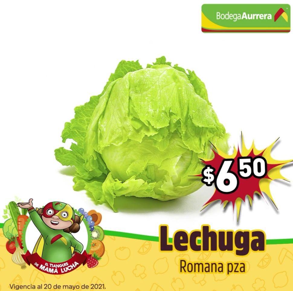 Bodega Aurrerá: El Tianguis de Mamá Lucha del Viernes 14 al Jueves 20 de Mayo: Lechuga $6.50 pza... Sandía $9.90 kg.