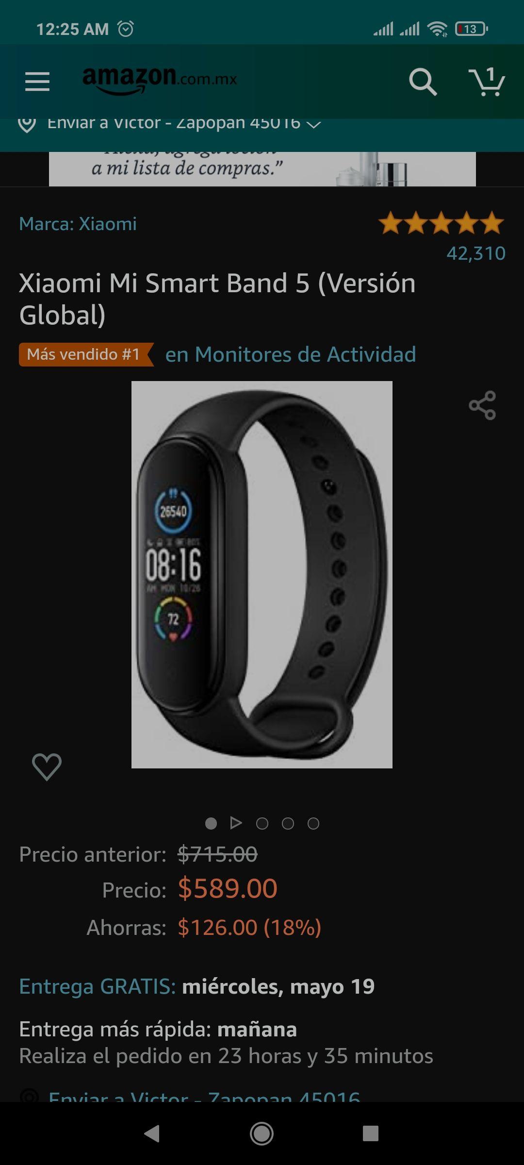 Amazon Xiaomi Mi Smart Band 5 (Versión Global)