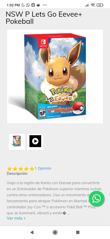 Sanborns, Pokémon: Let's Go! Eevee Switch