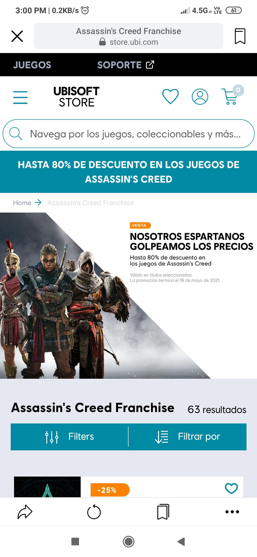 Ubisoft: Hasta 80% de descuento en la franquicia assassin's creed