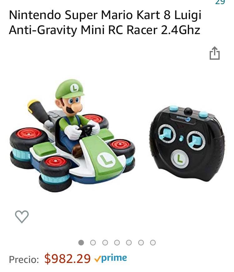 Amazon: Nintendo Super Mario Kart 8 Luigi Anti-Gravity Mini RC Racer 2.4Ghz