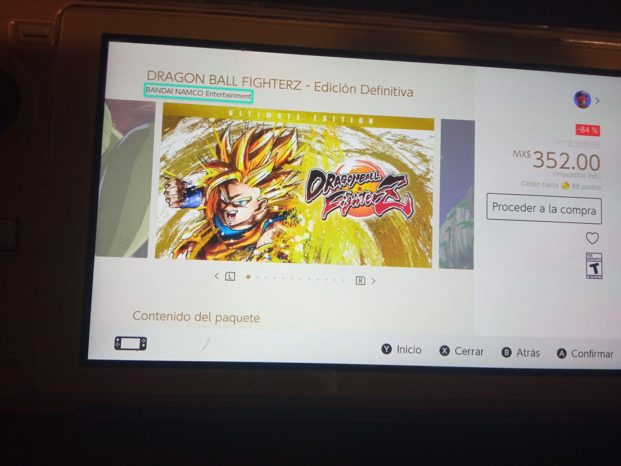 Nintendo eShop: Dragon ball fighters edición definitiva