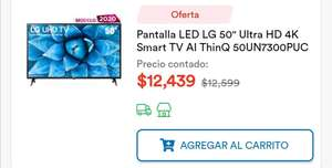 "Coppel: Pantalla LED LG 50"" Ultra HD 4K Smart TV AI ThinQ 50UN7300PUC"