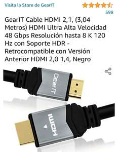 Amazon: Cable HDMI 2.1 3m// Amazon - 30% 8k@60Hz 4k@120Hz