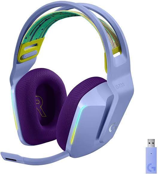CyberPuerta: Logitech G733 Wireless Gaming Headset Lila/Azul