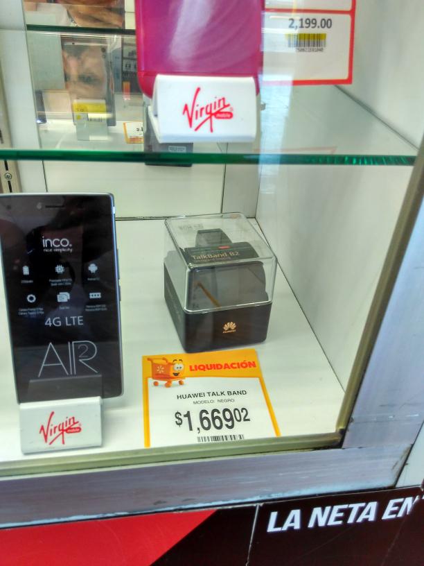 Walmart Cuemanco: Huawei Band 2 a $1,669.02