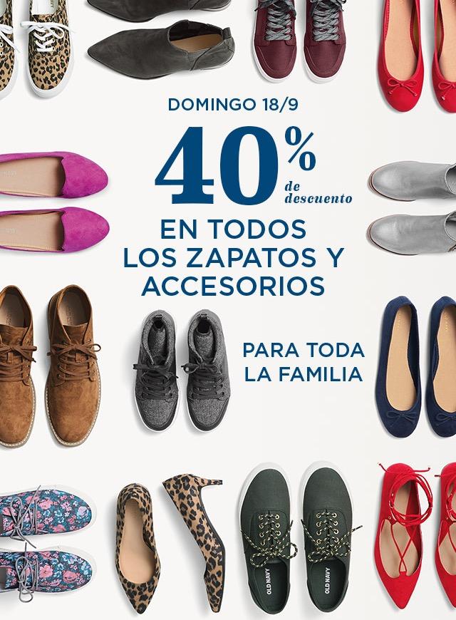 OldNavy: 40% en Todos los zapatos 18/9