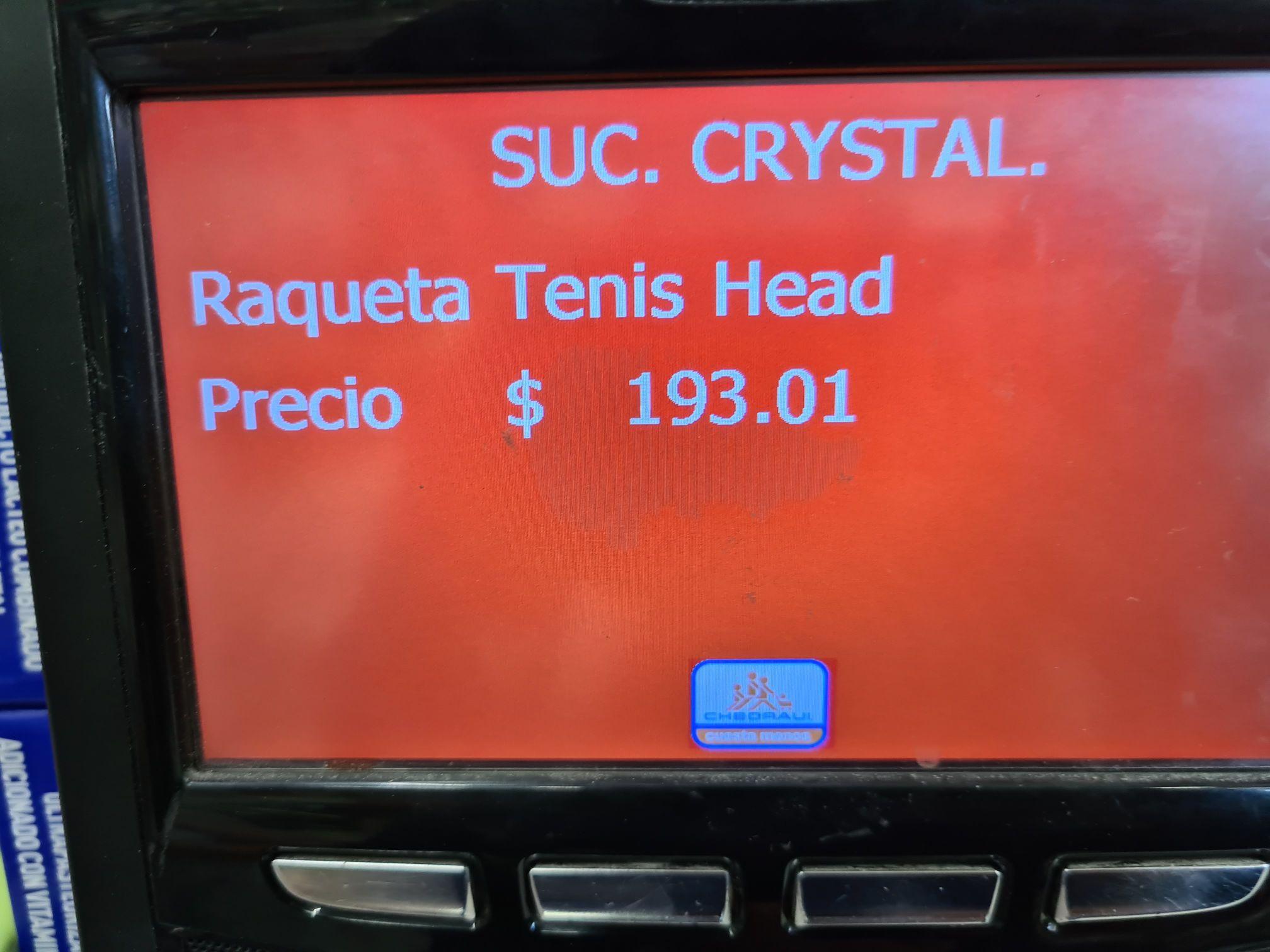 Chedrahui Cristal Xalapa. Raqueta Head Instinct