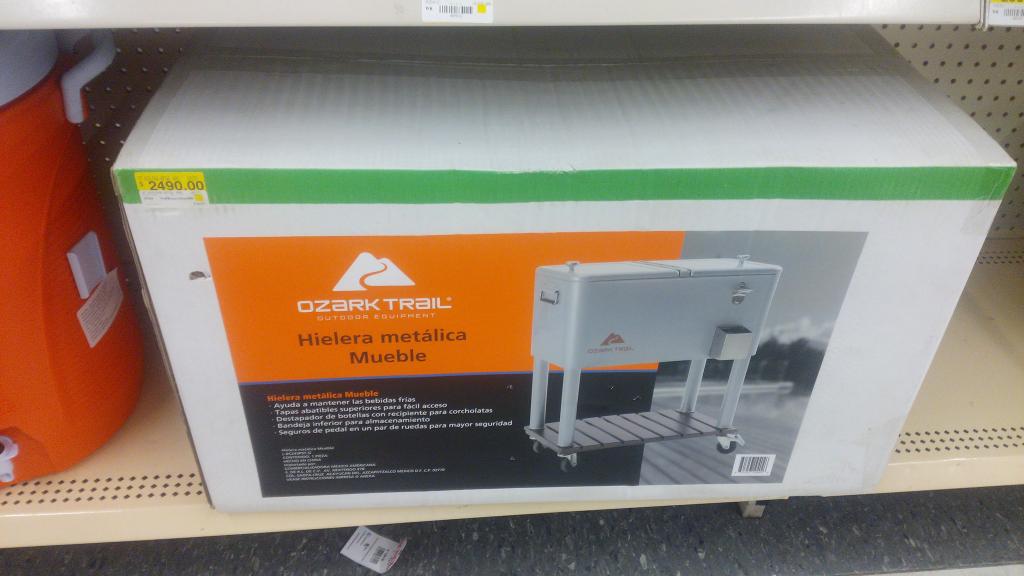 Walmart: Hielera metálica Ozark a $1,295.02