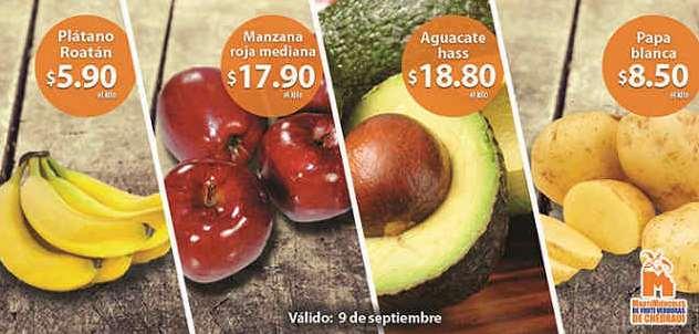 Ofertas de frutas y verduras en Chedraui 9 y 10 de septiembre