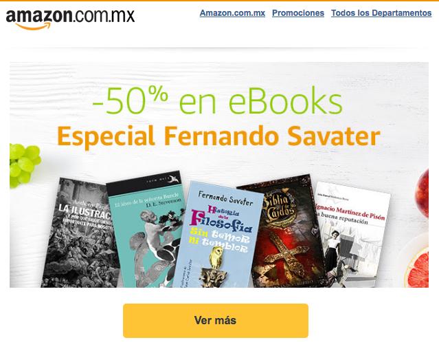 Amazon MX: -50% en Novedades de eBooks
