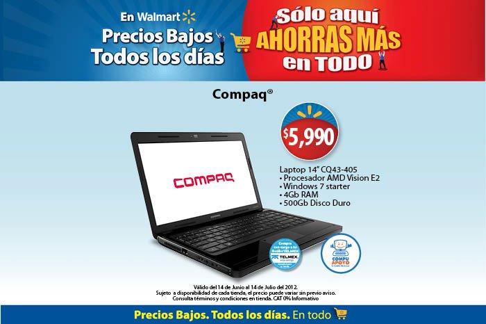 Walmart: laptop Compaq con 4GB de RAM a $5,990