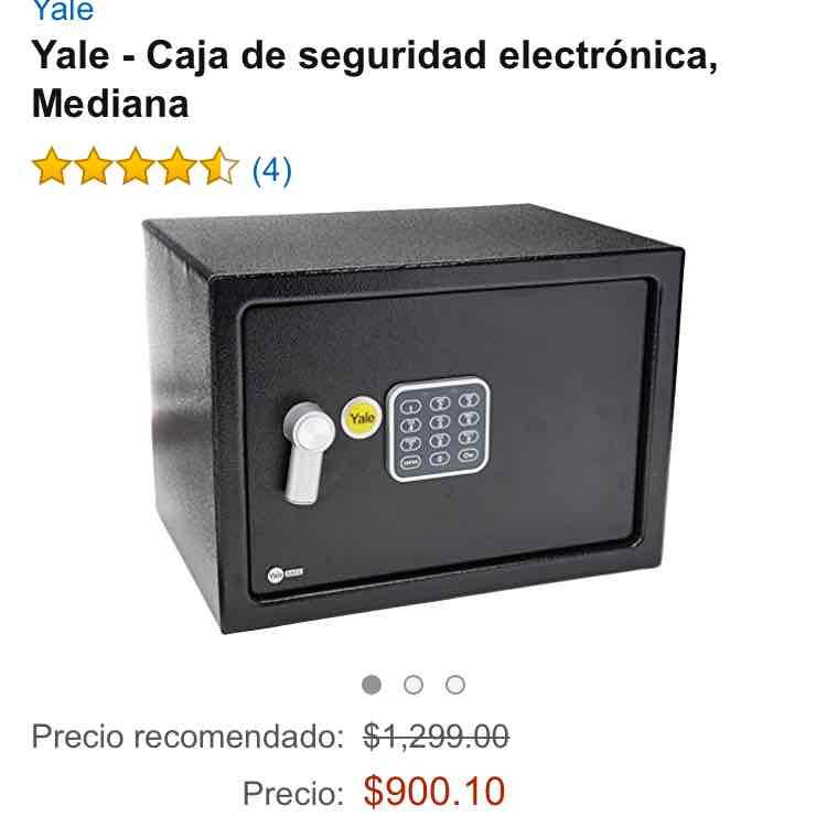 Amazon: Caja de seguridad electrónica, Mediana Yale