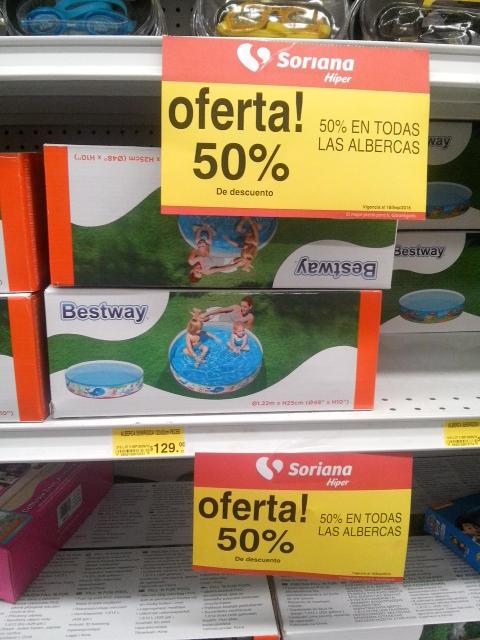 Soriana Ote Hiper Torreón: Todas las alberca con 50% de descuento