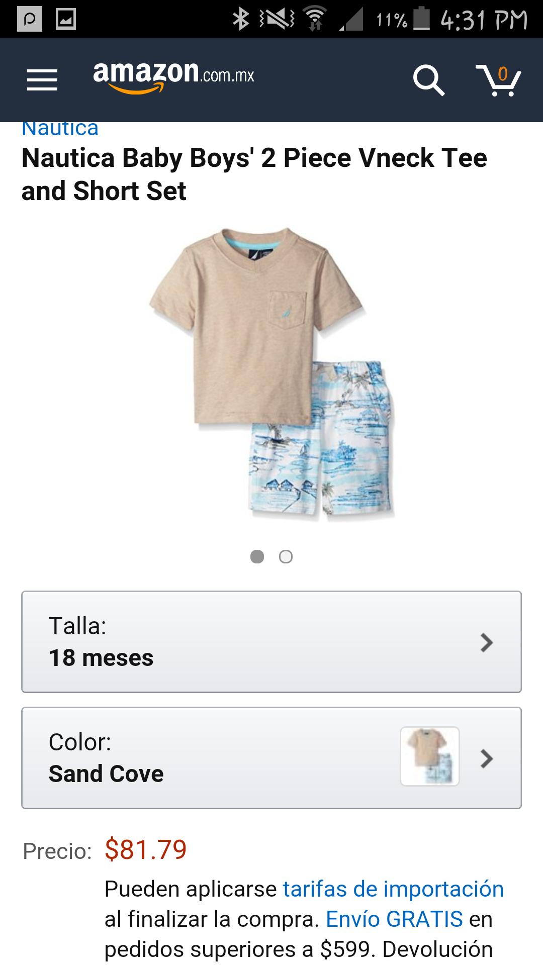 Amazon: conjunto de 2 piezas Nautica para bebé