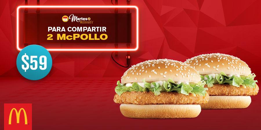 Martes de McDonald's: 6 HotCakes por $30 y 2 McPollo por $59