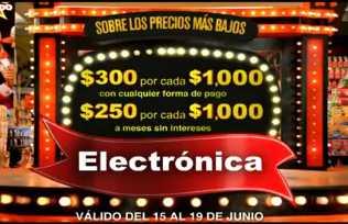 Julio Regalado junio 15: $300 por cada $1,000 de compra en electrónica y fotografía