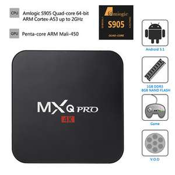 Bang Good: MXQ Pro 4K Ultimate KODI Android 5.1 Lollipop Amlogic S905 Quad Core 1GB/8GB TV Box Android Mini PC