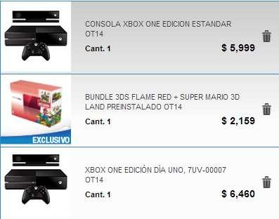 Megacable: Xbox One con Kinect $5,999 y Nintendo 3DS con Mario 3D Land $2,159