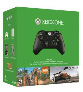 Best Buy: Control Xbox One + 6 Meses Live Gold + Forza 5 + Zoo Tycoon