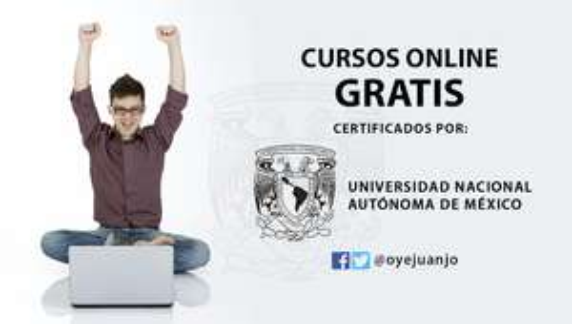 UNAM: 30 Cursos online gratis, en coursera.org
