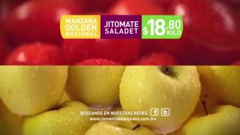 Comercial Mexicana y Mega: Hoy es Miércoles 21 Septiembre: Manzana Golden o Jitomate Saladet $18.80 kg.