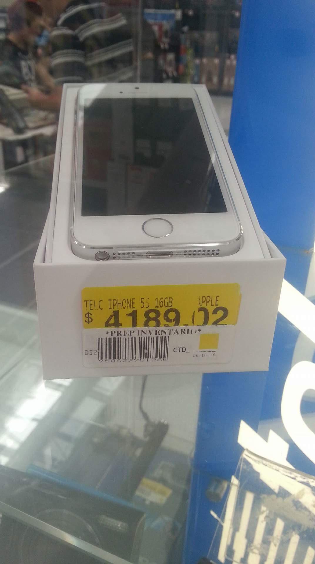 Walmart: iPhone 5s de 16 gb en segunda liquidación $4,189.02