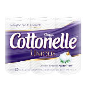 Amazon: Papel Higiénico Kleenex Cottonelle Unique 12 rollos a $30