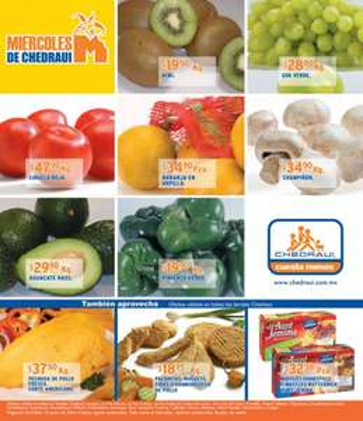 Miércoles de frutas y verduras Chedraui junio 13: espinaca, acelga, perejil a $1.90 pza y más