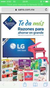 Nueva cuponera de Sam's Club 20 de sep al 18 de Oct