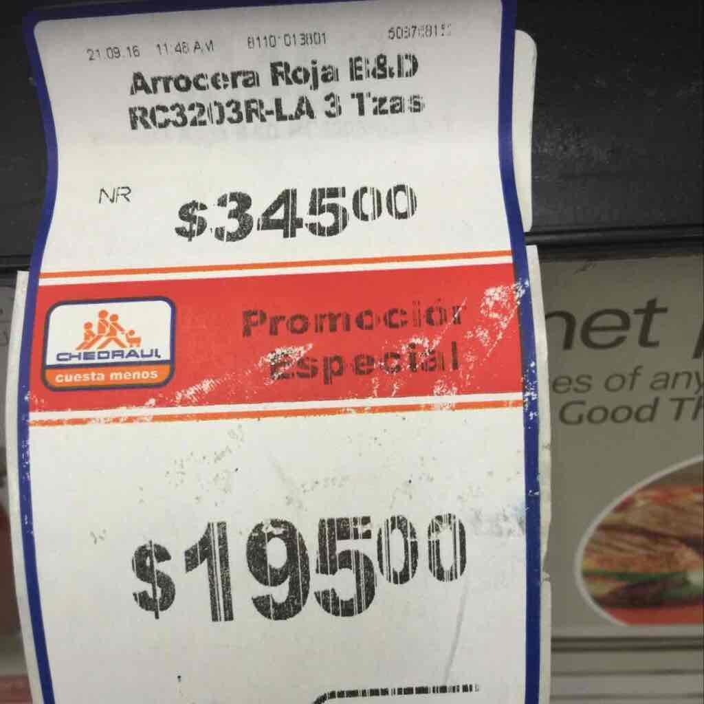 Chedraui: arrocera tres tazas a $195