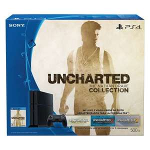 Amazon y Liverpool: Consola PS4 500GB + Uncharted: The Nathan Drake Collection a $6,299 ($5,669 con Banamex en Amazon)