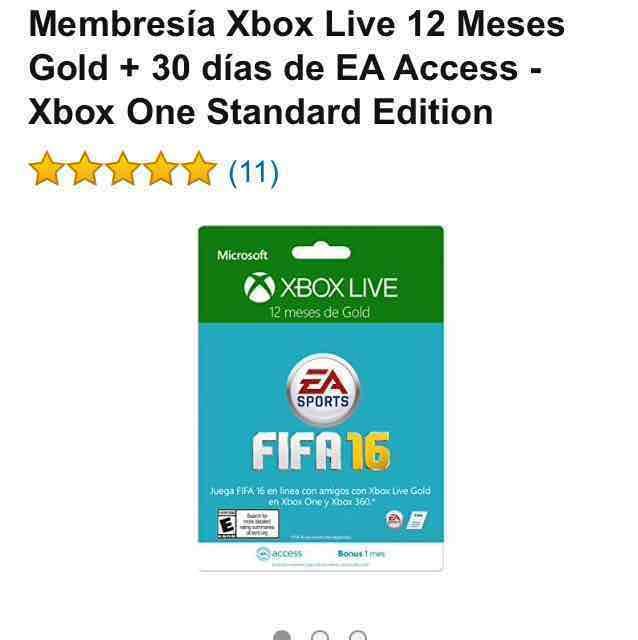 Amazon: Xbox live 12 meses + 1 mes gratis de EA Access $639.00