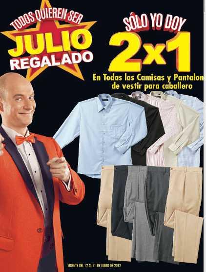 Folleto Julio Regalado Junio 12: 2x1 en camisas y pantalones de vestir, 3x2 en dulcería, descuento en videojuegos, bicis y más
