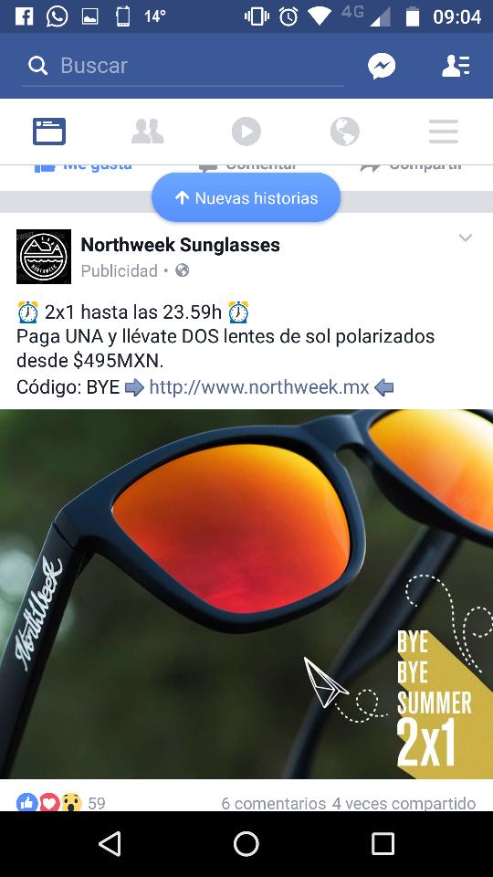 Northweek: gafas al 2X1 con código