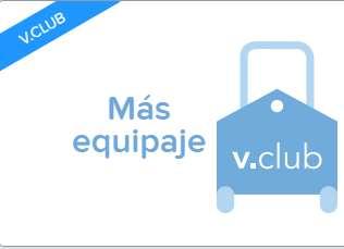 Volaris: paquete más equipaje Vclub (maleta extra, maleta de mano y equipo deportivo)