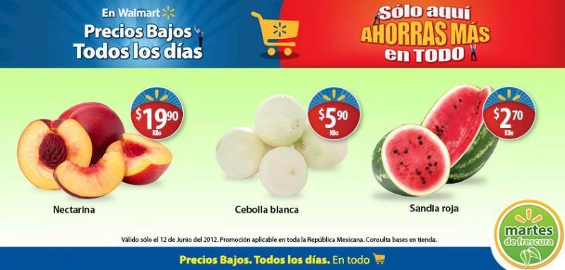 Martes de Frescura en Walmart junio 12: sandía $2.70, cebolla $5.90 y más