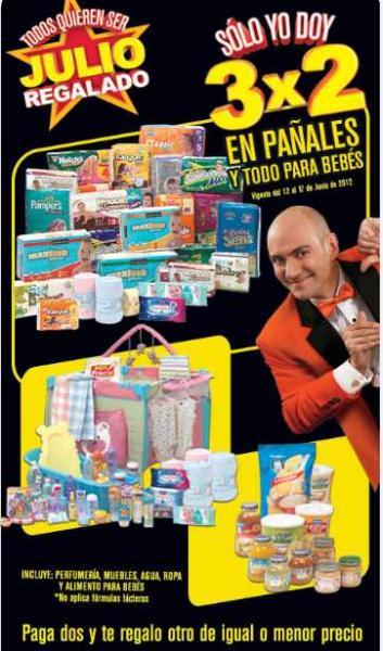 Empieza Julio Regalado: 3x2 en pañales y en artículos para bebés