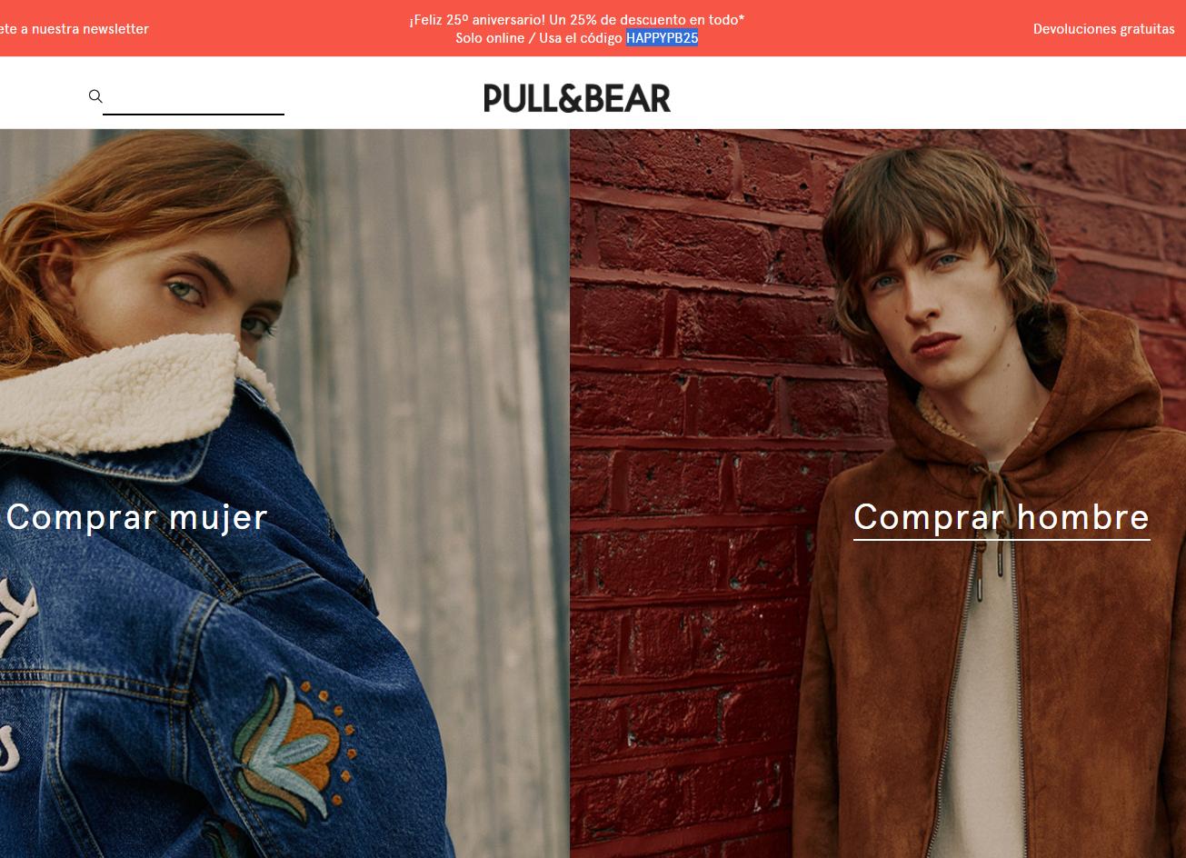 Pull&Bear: 25% de Descuento en todo* | Sólo Online |