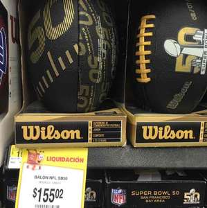 Walmart: Balón NFL Super Bowl 50 Junior