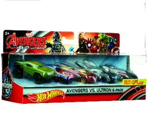 Amazon: Hot WheelsHot Wheels Marvel Avengers La Era De Ultron Paquete 5