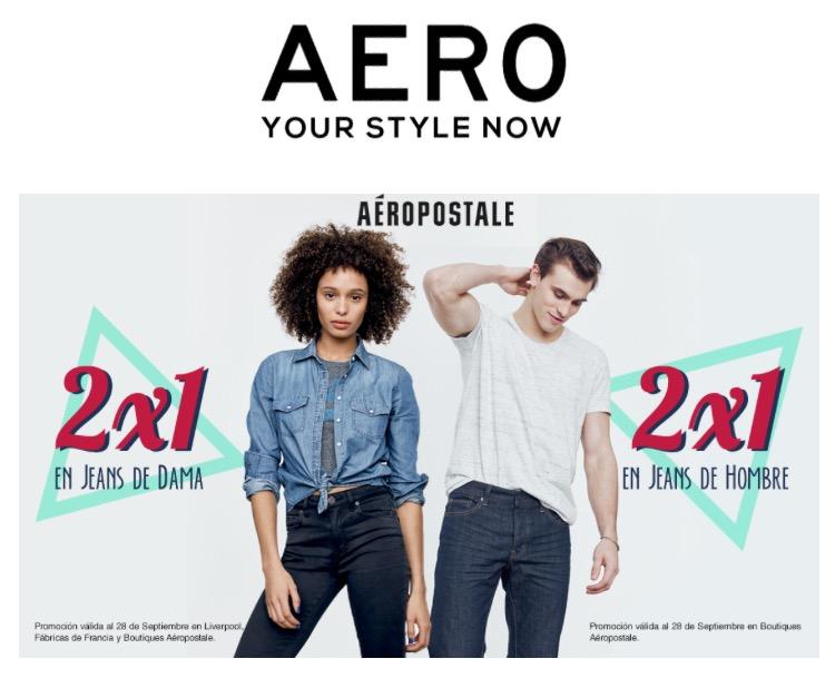Aéropostale: 2x1 en Jeans para Dama y Caballero