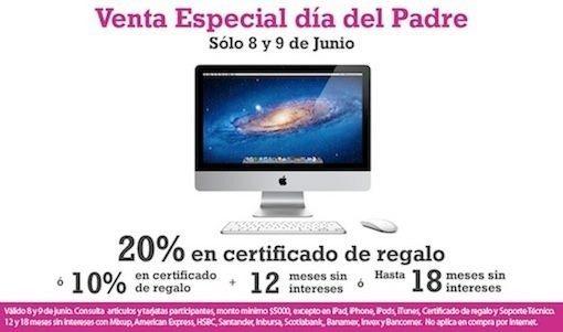 iShop Mixup: 20% en certificado de regalo o 10% y hasta 18 MSI en Mac y más