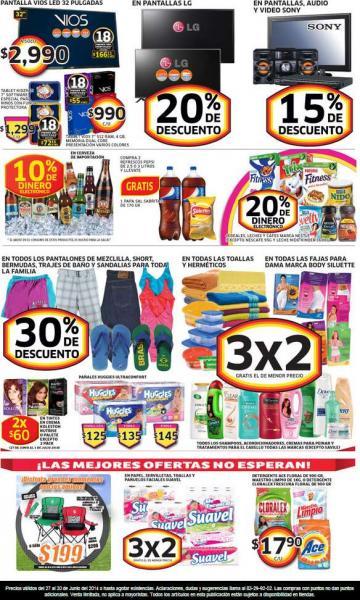 Soriana: 3x2 en toallas, shampoos, acondicionadores y tratamientos, 20% menos en pantallas LG y más