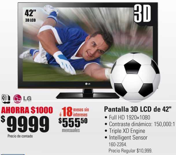 "RadioShack: pantalla 42"" 3D LG $9,999, iPod shuffle $399 comprando iPod Nano y más"