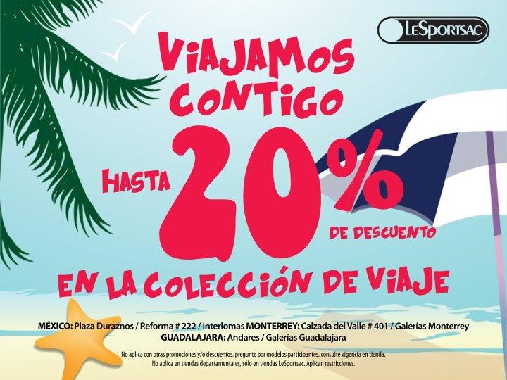 LeSportsac: 20% de descuento en colección de viaje