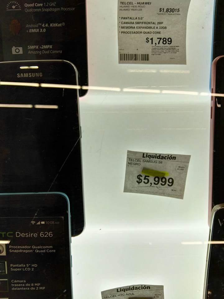 Sam's Club Puerto Vallarta: liquidación de Samsung Galaxy S6 a $5,999