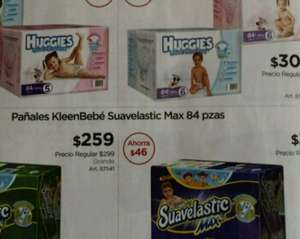 Sam's Club: Huggies Ultra Confort Etapa 6,84 piezas 305.00