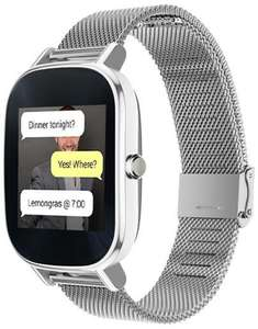 Amazon USA: ASUS ZenWatch 2 silver metal band smartwatch a $151.44 USD
