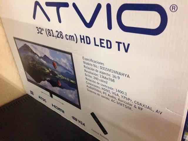 Walmart: TV 32 pulgadas Atvio a $2,089.02